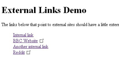 Add Icons To External Links
