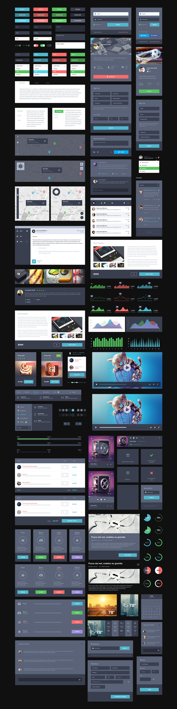 free dark ui kit