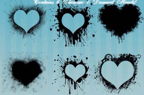 32.photoshop-heart-brushes