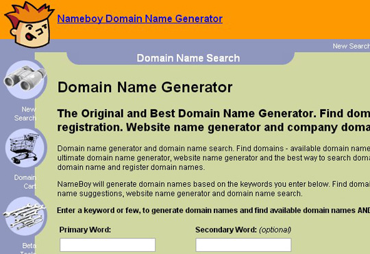 4.free domain finder