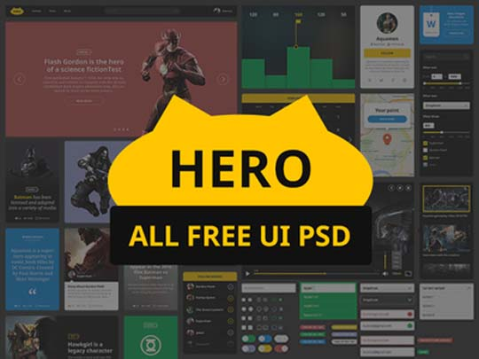 A FREE Fresh Collection of Really High Quality Flat PSD UI Kits (April 2015)