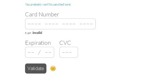jquery credit card form and validator