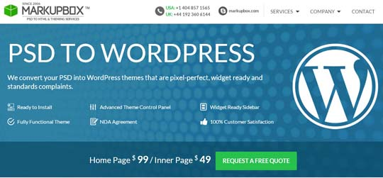 2.PSD to WordPress Conversion Service Providers