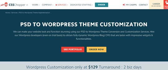 4.PSD to WordPress Conversion Service Providers