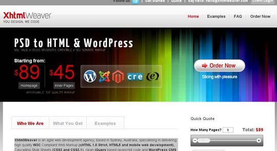 6.PSD to WordPress Conversion Service Providers