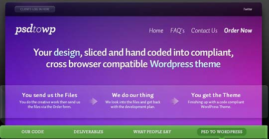 7.PSD to WordPress Conversion Service Providers