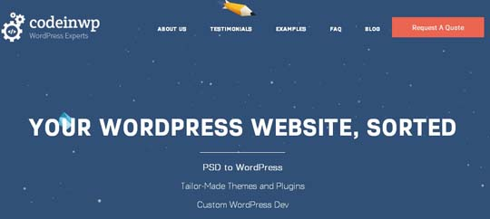 8.PSD to WordPress Conversion Service Providers