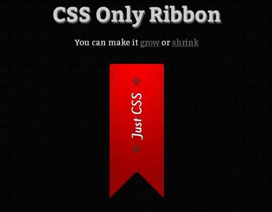6.css ribbon