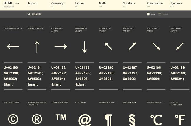 HTML-Arrows