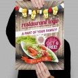 Styled Restaurant Flyer Template