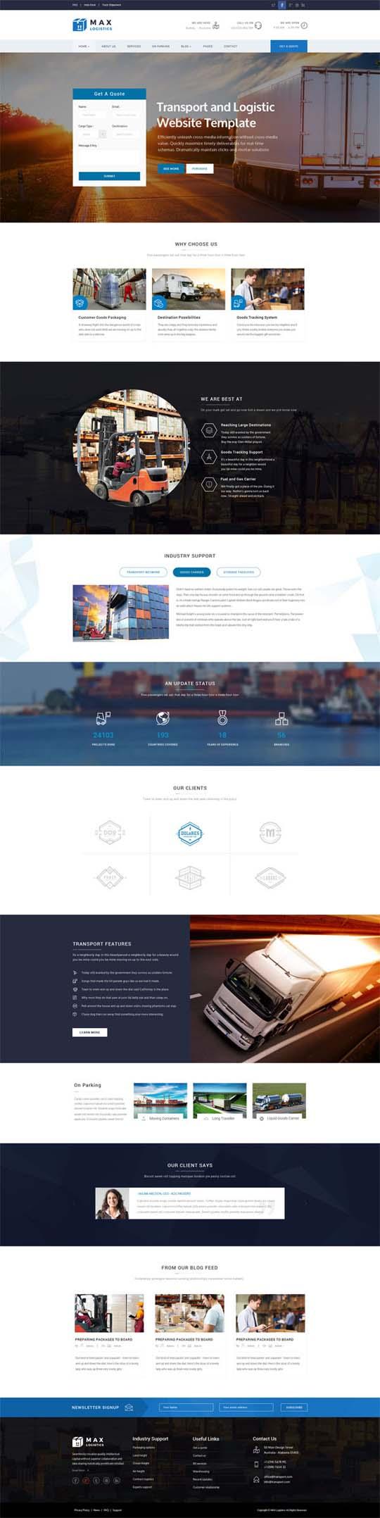2.Responsive Design HTML5 Website Templates