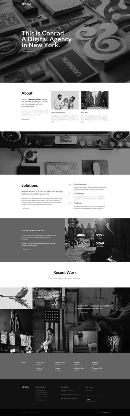 3.Responsive Design HTML5 Website Templates