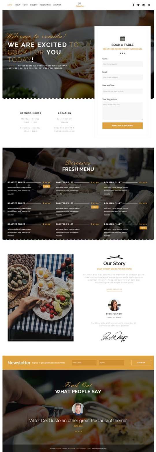 5.Responsive Design HTML5 Website Templates