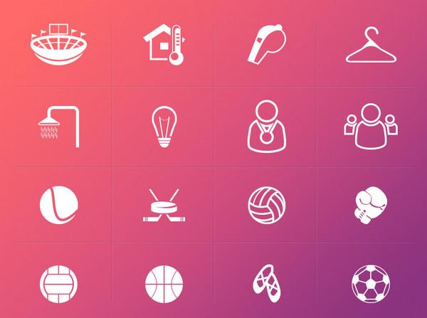 Sport Icons by Yaroslav Zubko