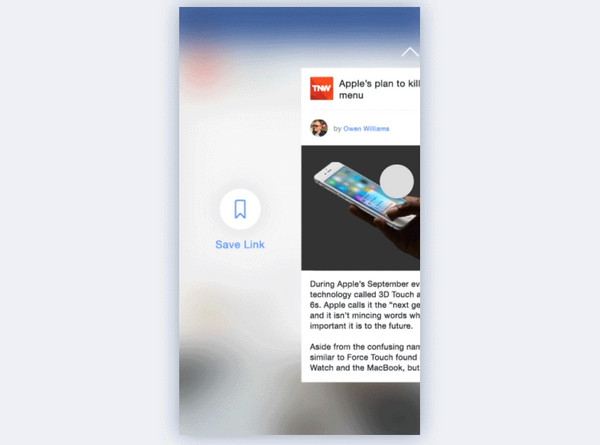 3D Touch Revised Facebook