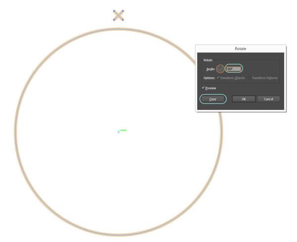 Select cross and circle