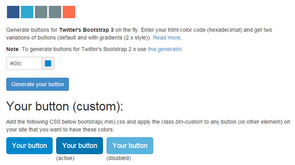 Bootstrap 3 Button Generator