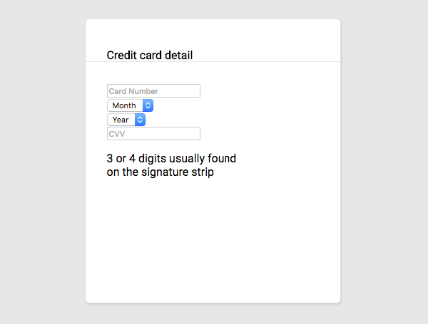 Credit Card CSS