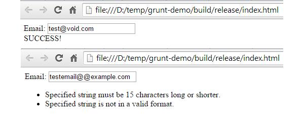 Grunt Demo Application