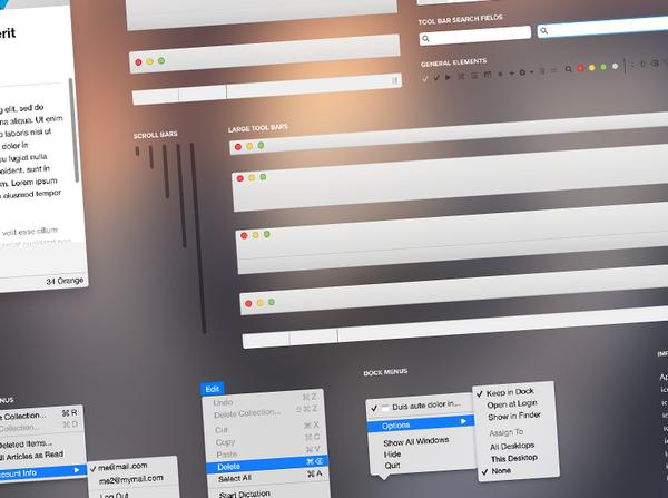 Mac OS X Yosemite UI