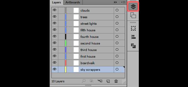 Setting layers