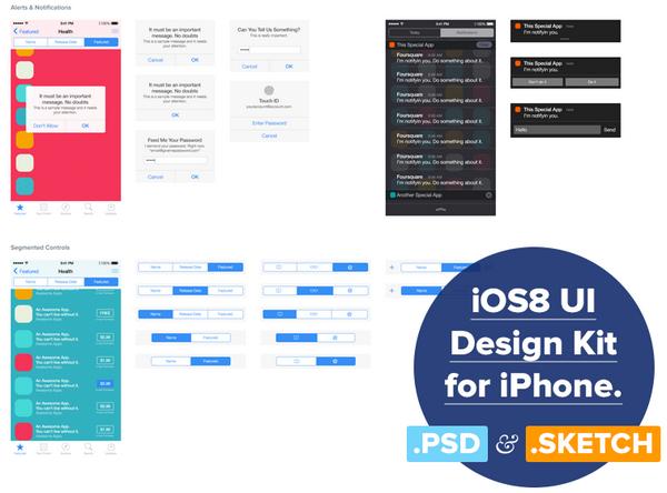 iOS 8 UI Design Kit