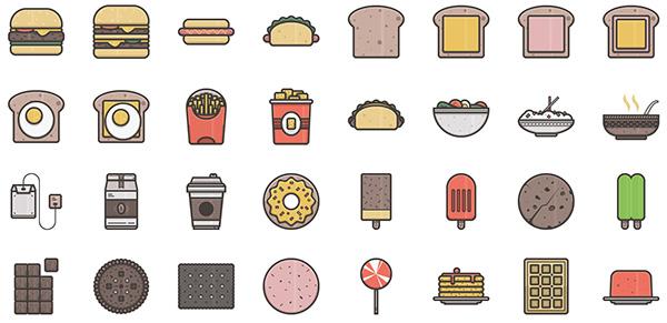 Illustricons - Food & Appliances