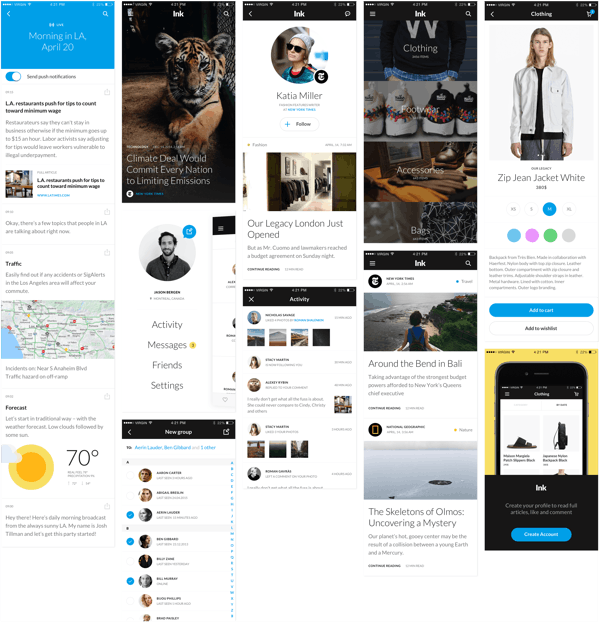 Free iOS App Screens