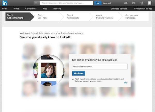 LinkedIn Wizard Form