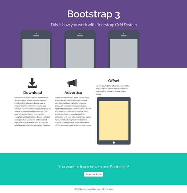 Installing Bootstrap And The Bootstrap Grid System