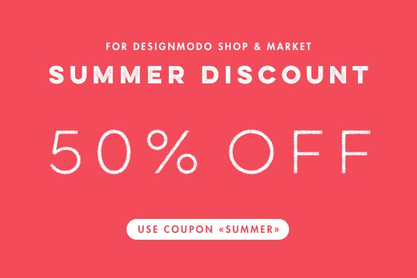 Summer Discount on Designmodo: 50% Off!